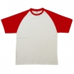 T-KREKLS WHITW-RED B&C BASE-BALL (185 g/m2)