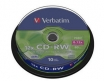 KOMPAKTDISKS VERBATIM CD-RW 700Mb/80min 8x-12x, 10gab Spindle Pack (VER43480)