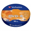 KOMPAKTDISKS VERBATIM DVD-R 4.7Gb/120min 16x Extra Protection 10pack